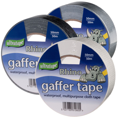 Rhino Gaffer Cloth Tape by Ultratape 50mm x 50m Waterproof Mutipurpose